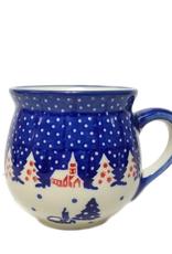 Polish Pottery 7oz Ladies Mug, Winter Village