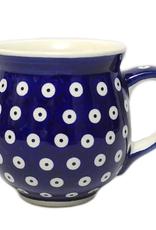 Polish Pottery 16oz Gentleman's Mug, Polka Dot