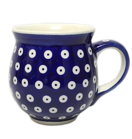 Polish Pottery 16oz Gentleman's Mug, Polka Dot