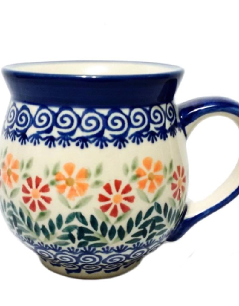 Polish Pottery 16oz Gentleman's Mug, Spring Morning