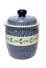 Polish Pottery 7 L Pickling Jar, Trailing Lily