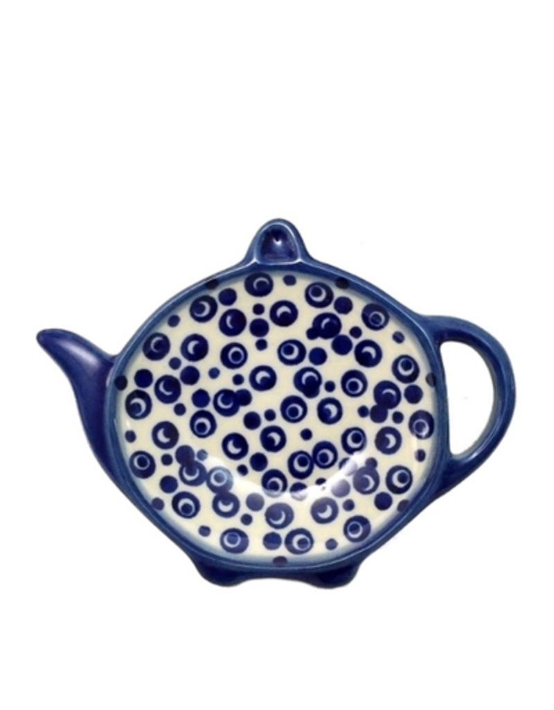 Polish Pottery Teabag Holder, Bubbles