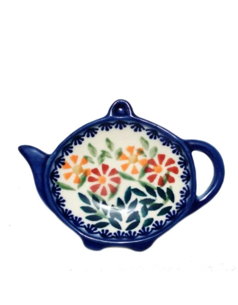 Polish Pottery Teabag Holder, Spring Morning
