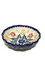 Polish Pottery 12cm Little Shell Bowl, Spring Morning