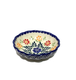 Polish Pottery 12cm Little Shell Bowl, Spring Morning