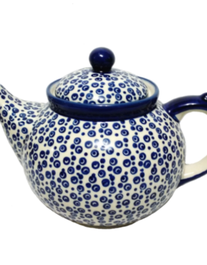 Polish Pottery 1.25L Afternoon Teapot, Bubbles