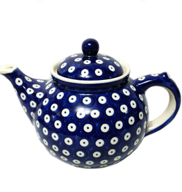 Polish Pottery 1.25L Afternoon Teapot, Polka Dot
