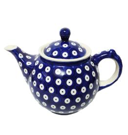 Polish Pottery 0.75L Morning Teapot, Polka Dot