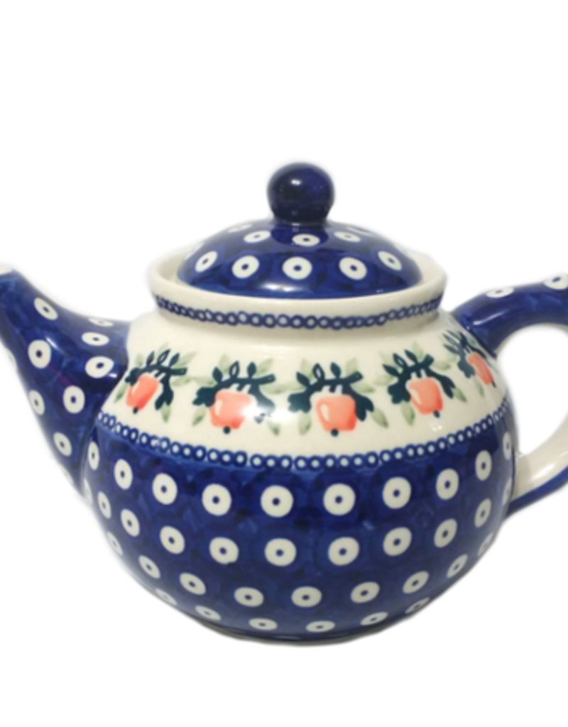 Polish Pottery 1.25L Afternoon Teapot, Red Apple