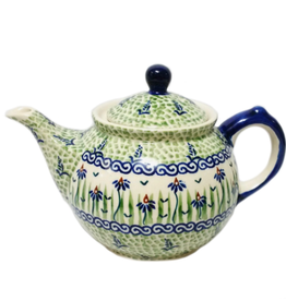 Polish Pottery 0.75L Morning Teapot, Dancing Garden