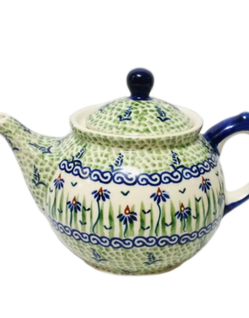 Polish Pottery 0.75L Morning Teapot, Dancing Garden