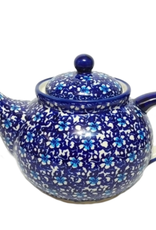 Polish Pottery 1.25L Afternoon Teapot, Floral Fantasy