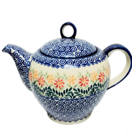 Polish Pottery 1.5L Tall Teapot, Spring Morning