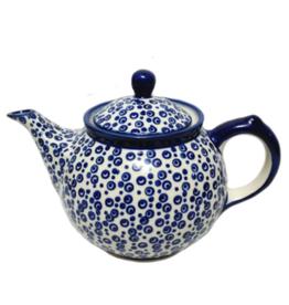 Polish Pottery 0.75L Morning Teapot, Bubbles