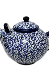 Polish Pottery 3L Family Teapot, Bubbles