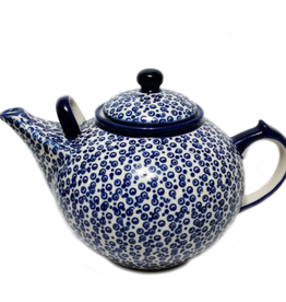 Polish Pottery 3L Family Teapot, Bubbles