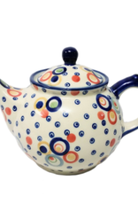 Polish Pottery 0.75L Morning Teapot, Modern, Signed