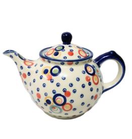 Polish Pottery 0.75L Morning Teapot, Modern, Signed