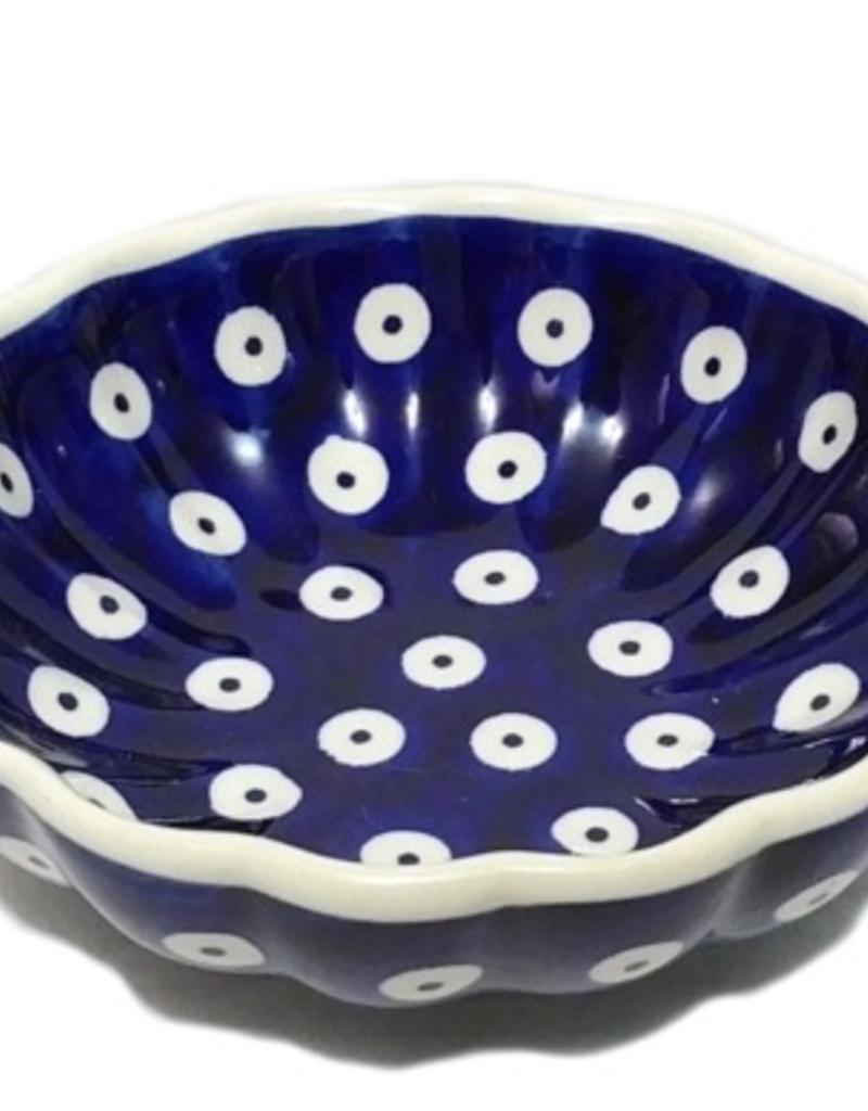 Polish Pottery 12cm Little Shell Bowl, Polka Dot