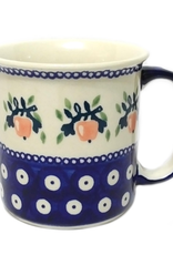 Polish Pottery 13oz Canadian Mug, Red Apple