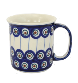 Polish Pottery 13oz Canadian Mug, Peacock