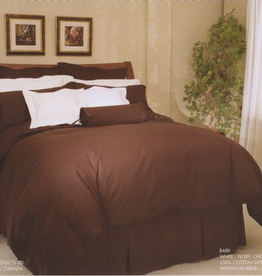 Cuddle-Down Bark Chocolate Sheet Set Double