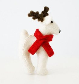 Hamro Ornament, Reindeer with Red Scarf