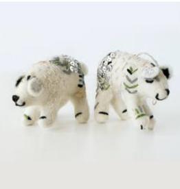 Hamro Ornament, White Bear