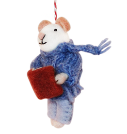 Hamro Ornament, Mouse w/Book