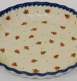 Polish Pottery Pie/Tart Dish, 25cm, Red Berries