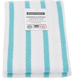 Now Designs S/2 Basketweave Dishcloths, Bali Blue