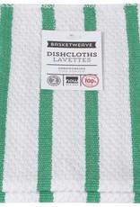 Now Designs S/2 Basketweave Dishcloths, Greenbriar