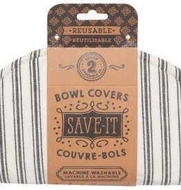 Now Designs Bowl Cover, Ticking Stripe S/2