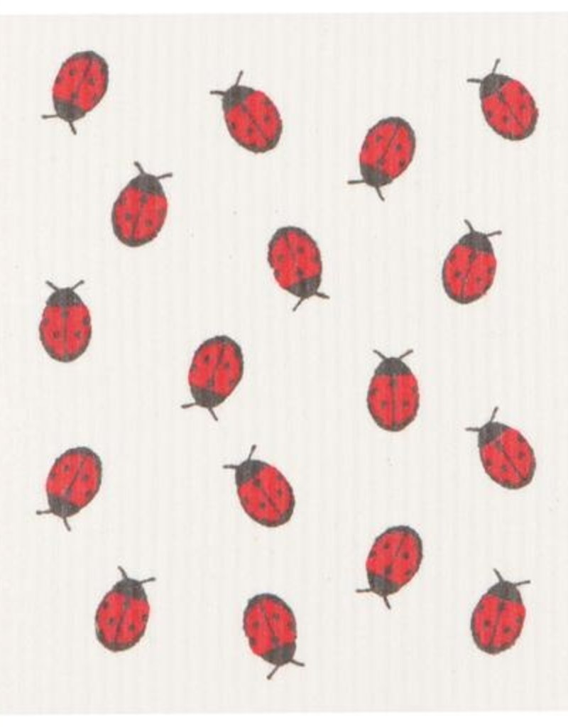Now Designs Swedish Dishcloth, Fly Away Ladybug
