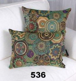 "Marie Dooley Sumatra Throw Pillow/Cushion, 18x18""/46x46cm - Green"