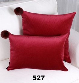 "Marie Dooley Romeo Throw Pillow/Cushion, 18x18""/46x46cm - Raspberry"