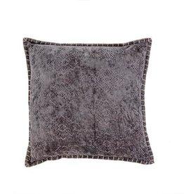 """Indaba Jacquard Velvet Cushion, Grey, 20x20"""""""