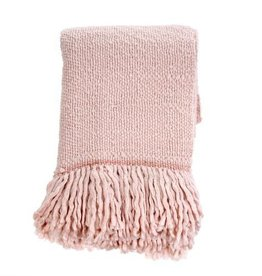 """Indaba Glimmer Throw, Pale Pink, 50x60"""""""