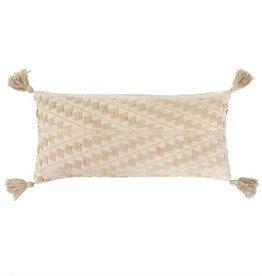 """Indaba Athens Bolster Pillow, Ecru, 15x32"""""""