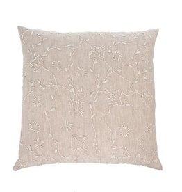 "Indaba Linen Vines Cushion, 20x20"""