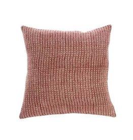 "Indaba Nadi Linen Cushion, Red, 20x20"""