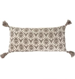 "Indaba Stella Bolster Pillow, Stone, 15x32"""
