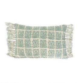 Indaba Wildberry Pillow, Sage, 16x24""