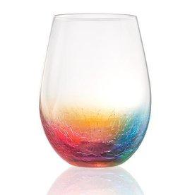 Artland Crackle Stemless Wine Glass 20oz