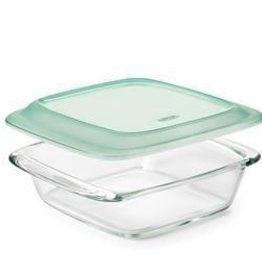 OXO Glass Baking Dish w/Lid, 1.9L Square 20x20cm