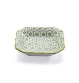 "Bia Mini Dish, 3.5"" Square Green"