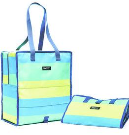 PACKIT PACKIT Freezable/Reusable Grocery Bag w/Zip Closure, 'Fresh Stripe' Pattern