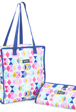 PACKIT PACKIT Freezable/Reusable Grocery Bag w/Zip Closure, 'Festive Gem' Pattern