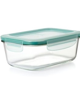 OXO SmartSeal Glass Rectangular Container w/Lid, 8cup/1.9L