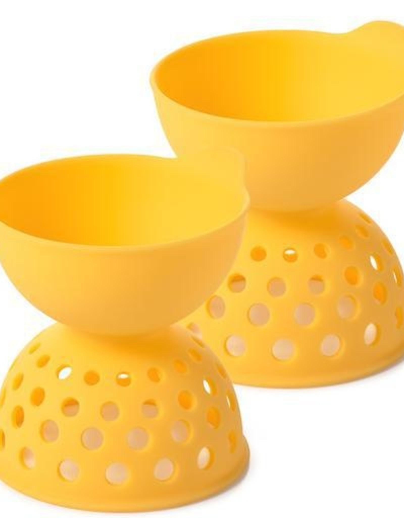 OXO SIlicone Egg Poacher 2 Pack, Yellow